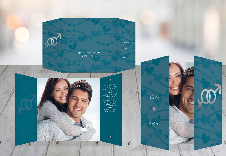 Kartenparadies Hochzeitskarte Einladung Im Zeichen der Liebe, hochwertige Einladung zur Heirat inklusive Umschläge   10 Karten - (Format  145x145 mm) Farbe  DunkeltiefBlau B01MZBZWD4 | Düsseldorf Online Shop  | Internationale Wahl  | Glücklicher St