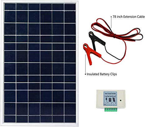 Eco Worthy 10w Solar Panel Kit For 12v System 10 Watt Solar Panel Battery Clips 3a Charge Controller Amazon Ca Patio Lawn Garden
