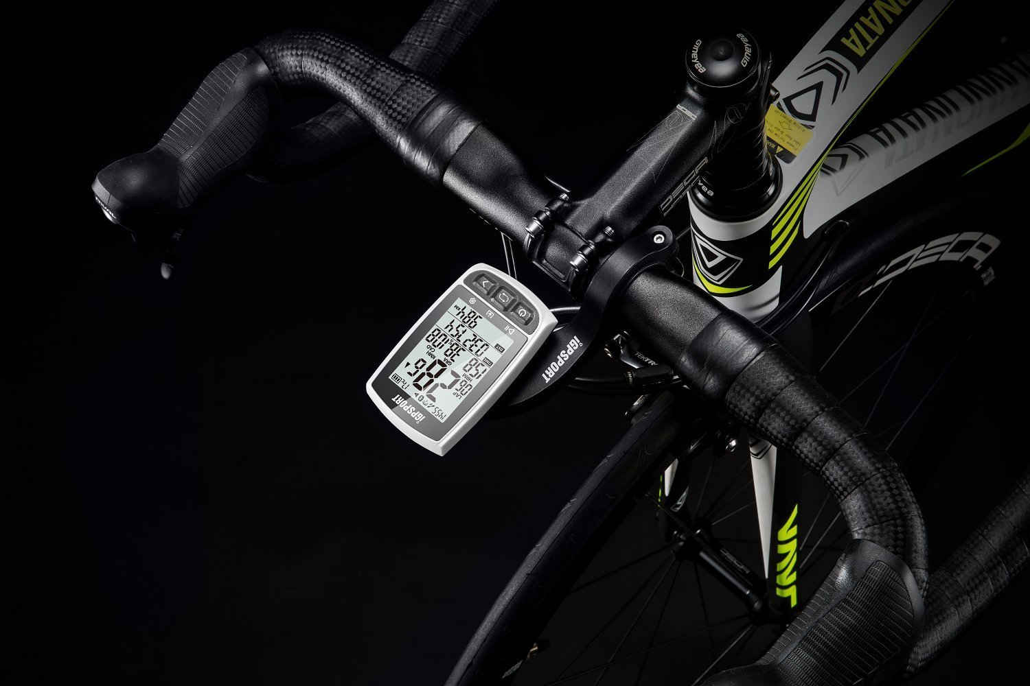 White Function Large Screen Long Endurance Support Heart Rate Monitor Speed Cadence Sensor Connection iGPSPORT iGS50E GPS Cycle Computer with ANT