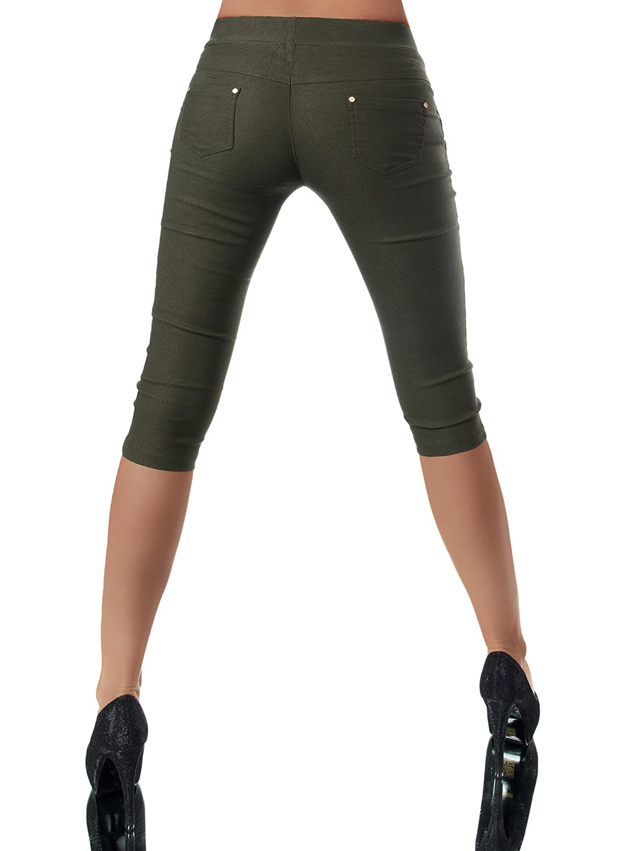 Capri Diva-Jeans Tinta Unita Leggings Donna