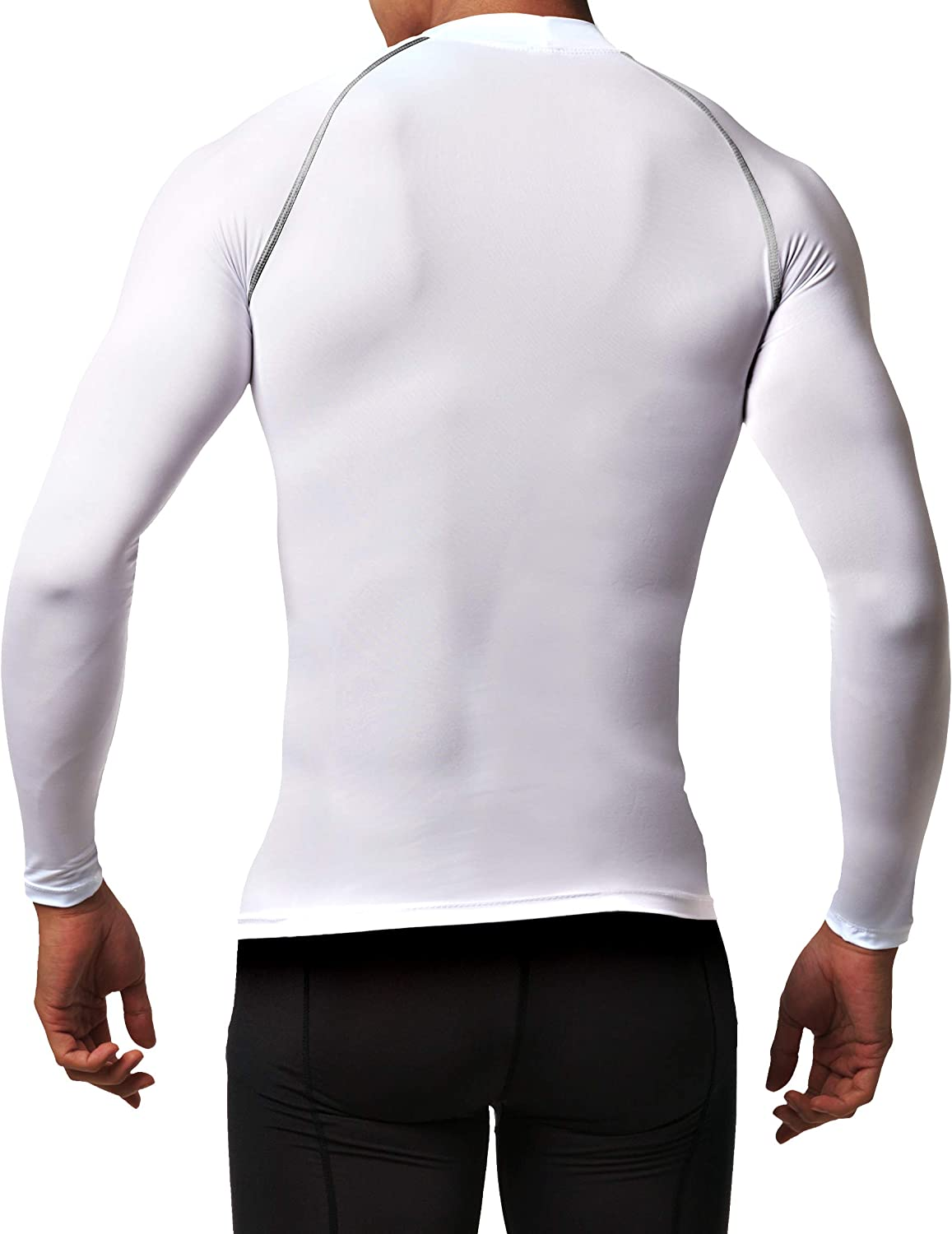 Defender Mens 3Pack Sports Compression T Shirt Under Gear Jerseys Tights Fits Cold Soccer BBBBBB/_XS