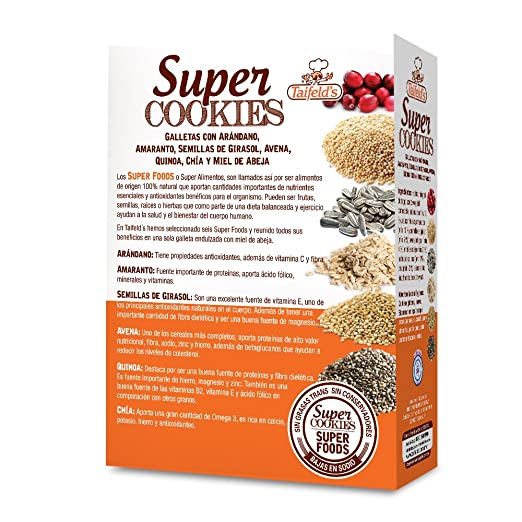 Amazon.com: Taifelds Super Healthy Cookies with Sweetened Honey Walnuts, Amaranth, Oats, Cranberries & Chia. No Preservatives and Low in Cholesterol - 2 ...