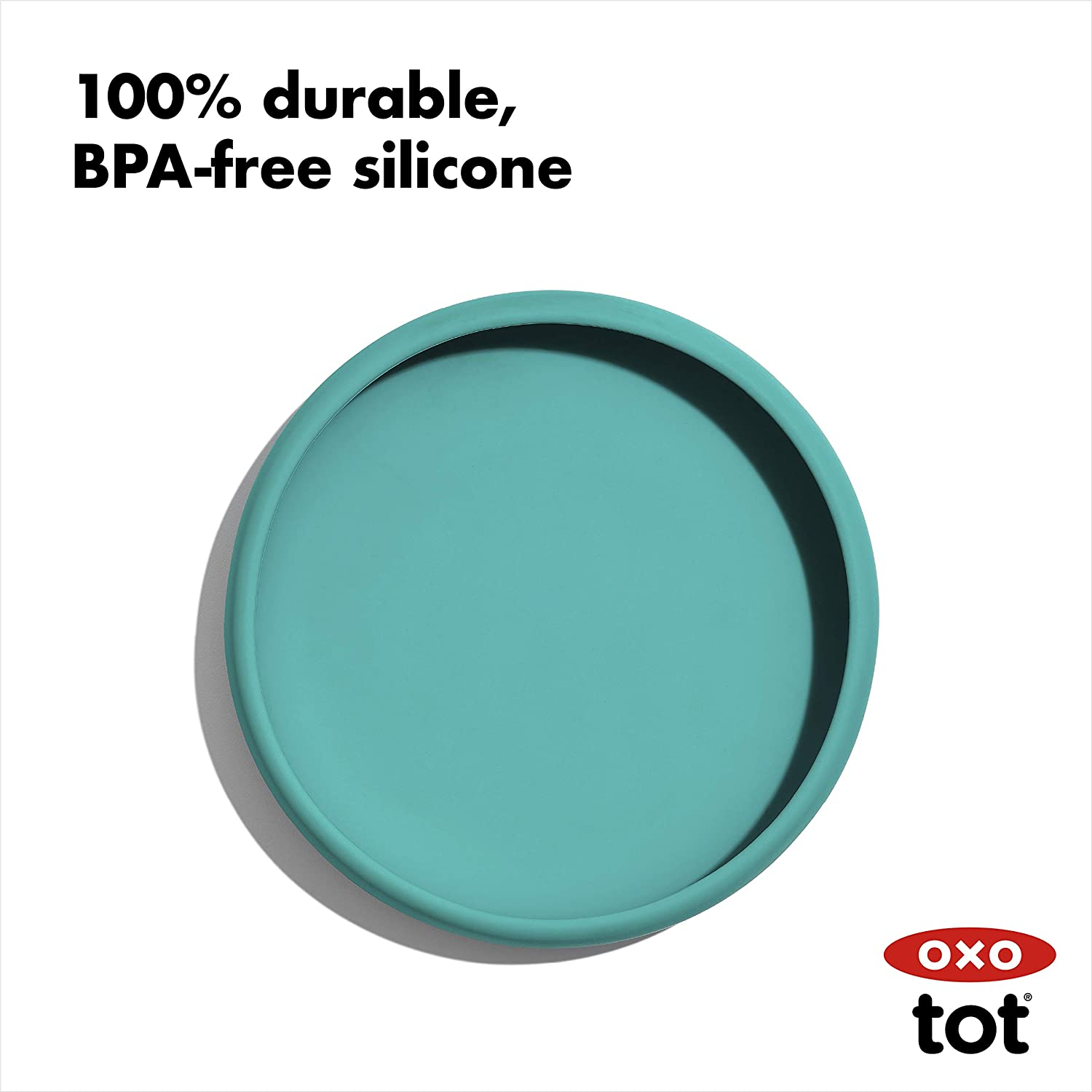 OXO Tot Silicone Plate Navy