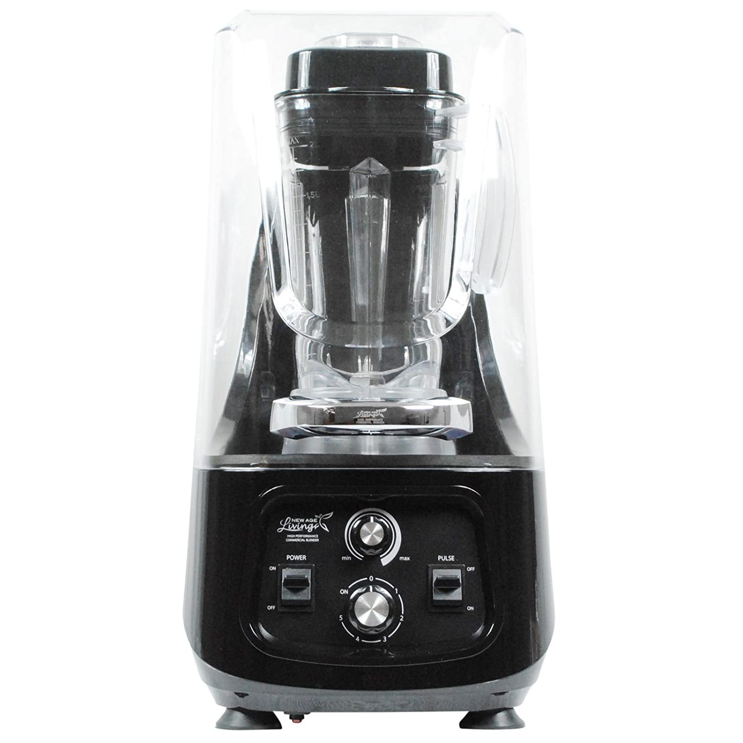 New Age Living Quiet Series Blender with Shield | Shrouded Soup & Smoothie Blender | 3.5HP Peak Power | Blends Frozen Fruits, Vegetables, Greens, Even Ice with Less Noise | 5 Year Warranty