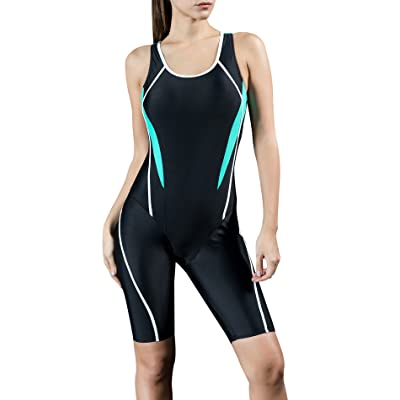 Uhnice Women Unitard Swimwear Surfing Suit Sports One Piece With Shorts Swimsuit