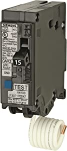 Siemens QA115AFCP 15-Amp Single Pole 120-volt Plug-On Combination AFCI Breaker