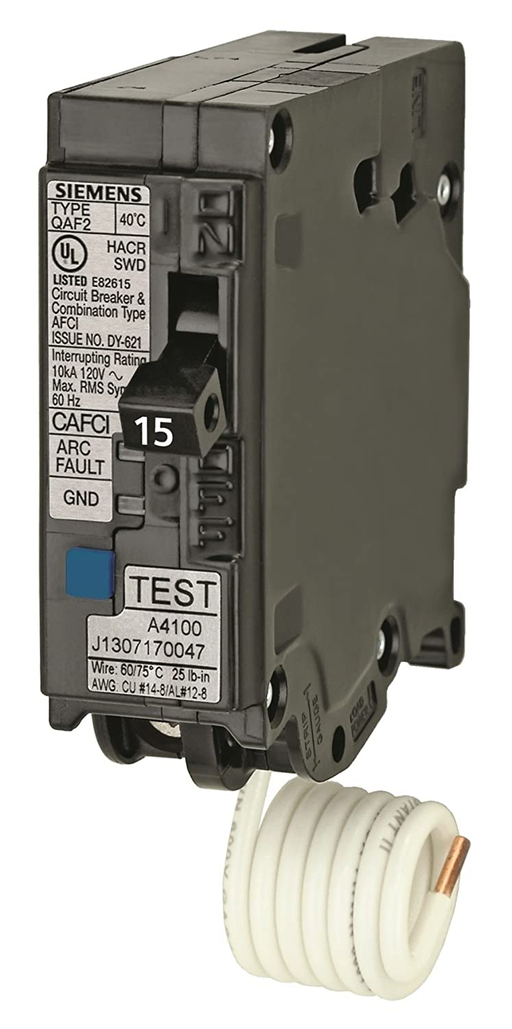 Siemens QA120AFC 20-Amp Single Pole 120-volt Plug-On Combination ...