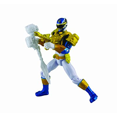 Power Rangers, Megaforce, Metallic Force Ultra Blue Ranger Action Figure, 4 Inches: Toys & Games