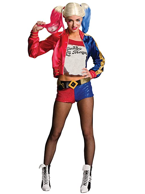 Suicide Squad Disfraz de Harley Quinn señora 4 Piezas Rojo ...