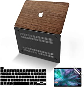 MacBook Pro 16 Inch Case 2019 Release A2141, Anban Ultra-Slim Wooden Hard Corner Protective Shell Cover with Keyboard & Screen Protector Compatible for Apple MacBook Pro 16 with Touch Bar and Touch ID