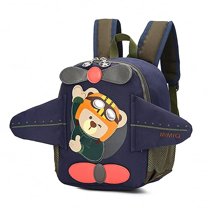 19ab16baedb4 Toddler's Backpack,3D Airplane Cute Bear Toddler's Mini School Bag Backpack  for Baby Girl Boy Age 2-6 Years,Navy