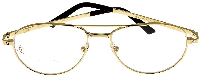Amazon.com: Cartier Prescription Eyeglasses Frame Titanium T8101037 ...