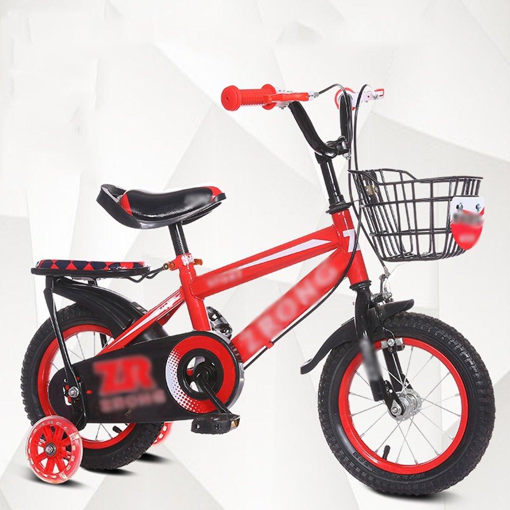 HAIZHEN マウンテンバイク 子供用自転車ベビーキャリッジ12/14/16/18/20インチマウンテンバイクブルーレッドイエローセキュリティ保護 新生児 B07C6TYZRV 16 inches|赤 赤 16 inches