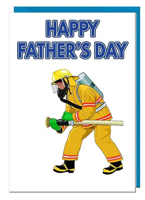 Bombero temáticas, tarjeta de felicitación del día del padre ...