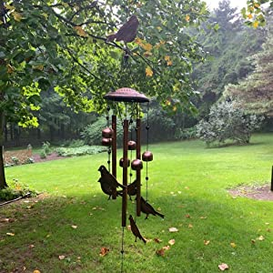loofeng Wind Chimes, Metal Bird Bell Wind Chime Outdoor Indoor for Garden Yard