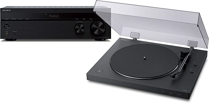 Sony PS-LX310BT Belt Drive Turntable: Fully Automatic Wireless Vinyl Record Player with STRDH190 2-ch Stereo Receiver with Phono Inputs & Bluetooth