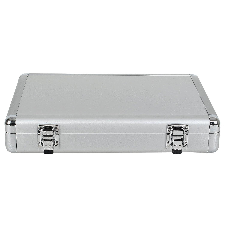 Sanweiアルミニウムテーブルテニスバットケース – シルバー B01GCR3S1W