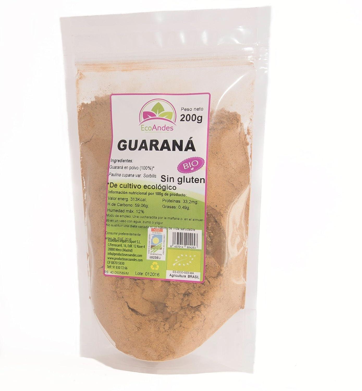 Guaraná en Polvo - Ecológico Brasil 200gr: Amazon.es: Salud y ...