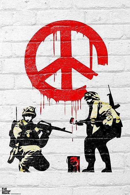 Amazon com: Pyramid America Banksy Cease and Desist Soldiers
