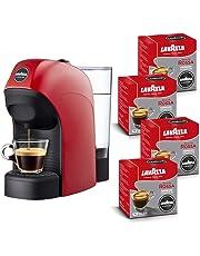 Lavazza A Modo Mio Tiny Macchina caffè, 1450 W, 0.75 Litri con 64 capsule Lavazza Qualità Rossa incluse