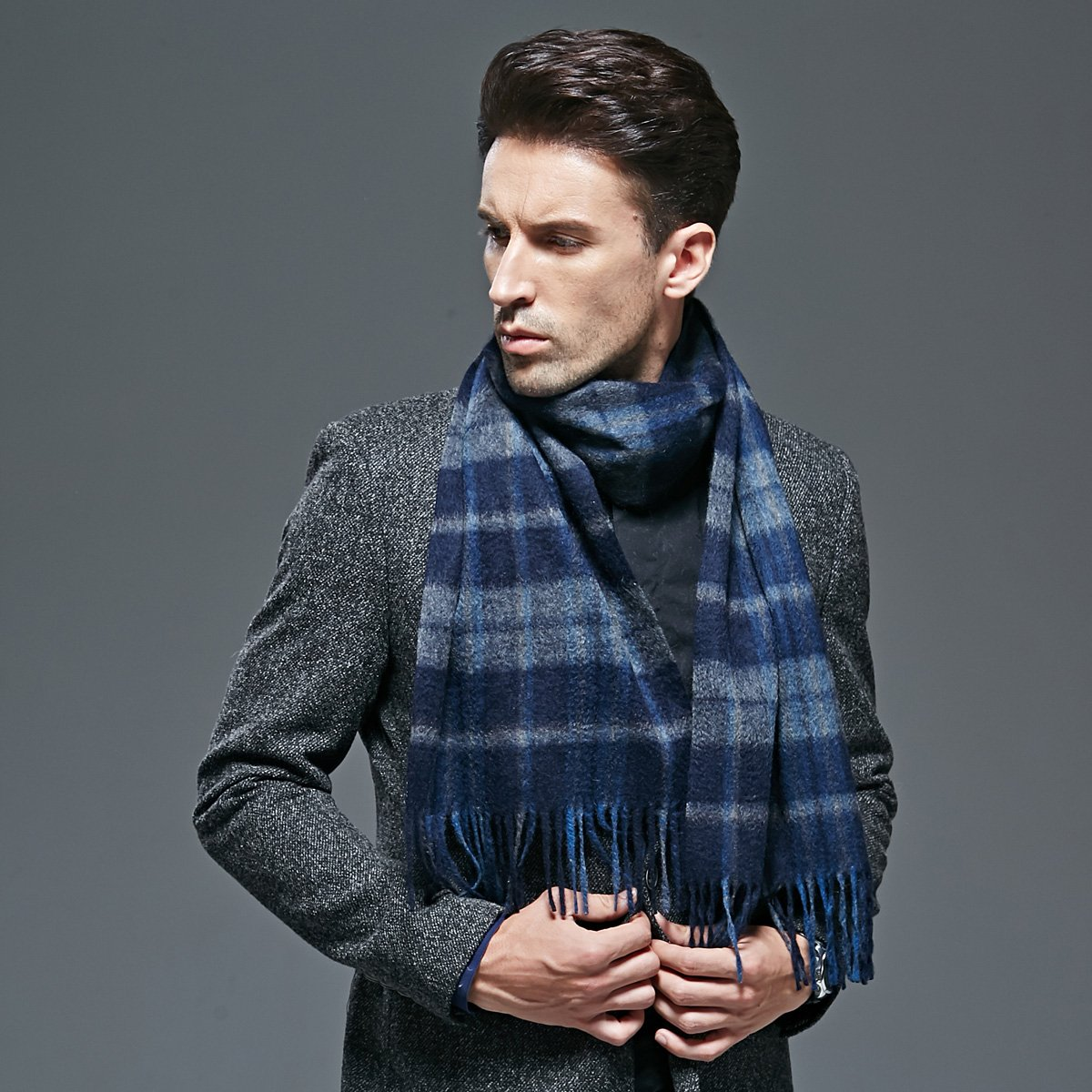 Men pure cashmere scarf scarf warm thickening