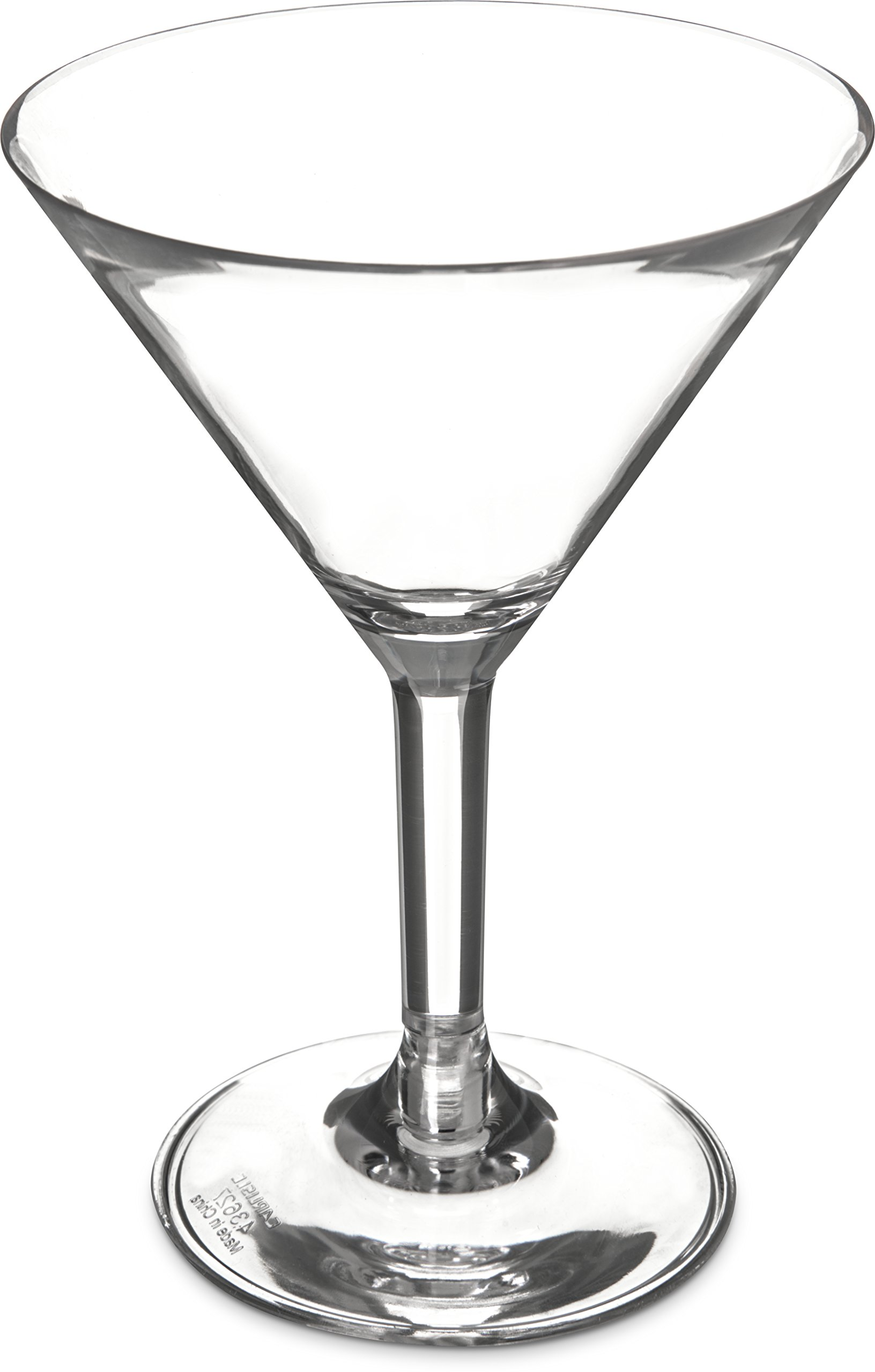 Carlisle 4362707 Liberty Polycarbonate Martini Glass, 8-oz. Capacity, Clear (Case of 24)