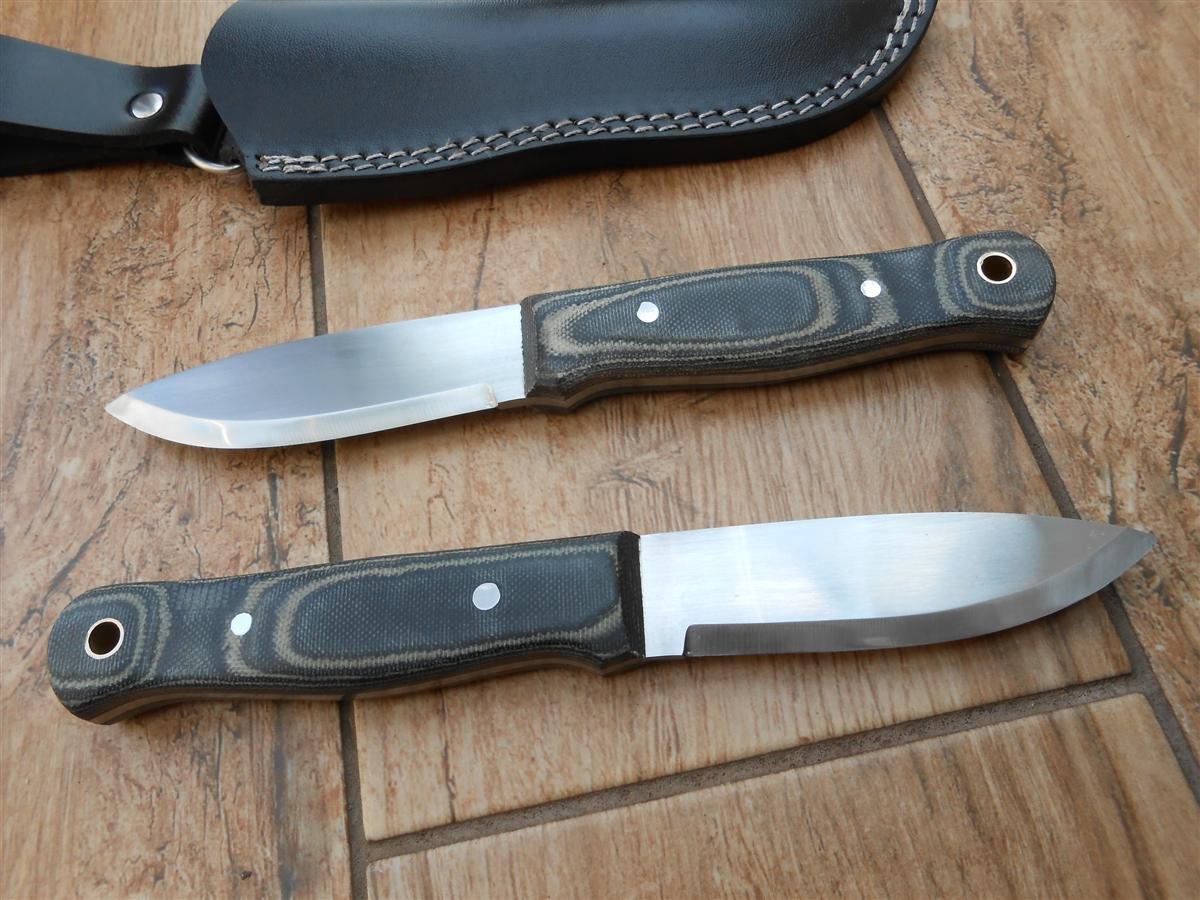 Sale! Artesanos Bushcraft cuchillo - 01 hoja de acero al carbono para herramientas! Micarta!