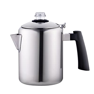 Cook N Home 8-Cup Stainless Steel Stovetop Coffee Percolator Pot Kettle