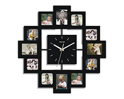 Amazon.com - Creative Motion 12-Photo Frame and Clock - Wall Clocks
