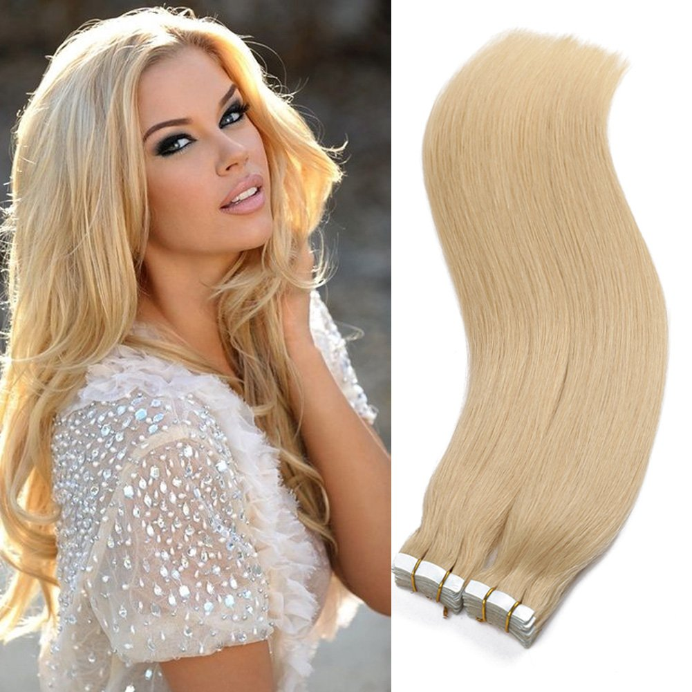 Amazon Tape In Human Hair Extensions 16 18 20 22 24