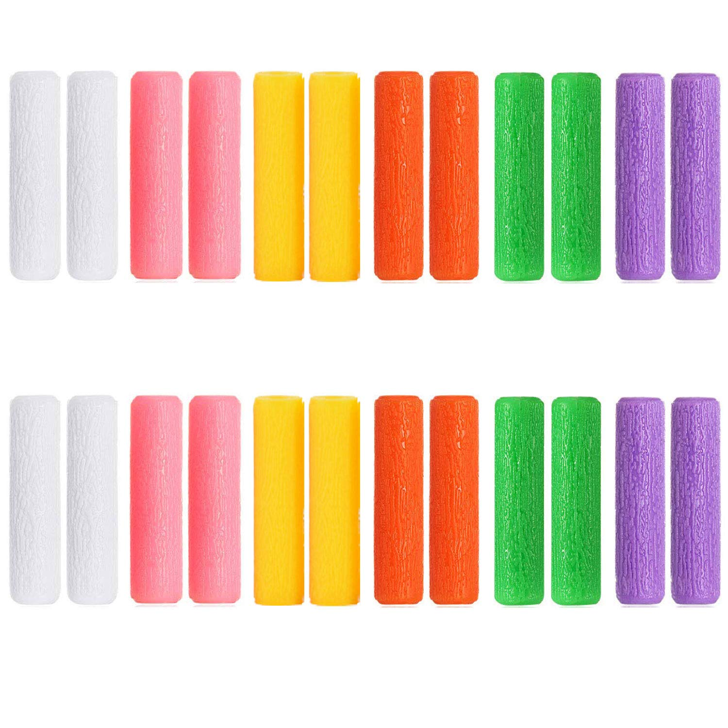 KISEER 24 Pcs Colourful Orthodontic Aligner Chewies for Aligner Chompers Aligner Trays Seaters, 6 Color