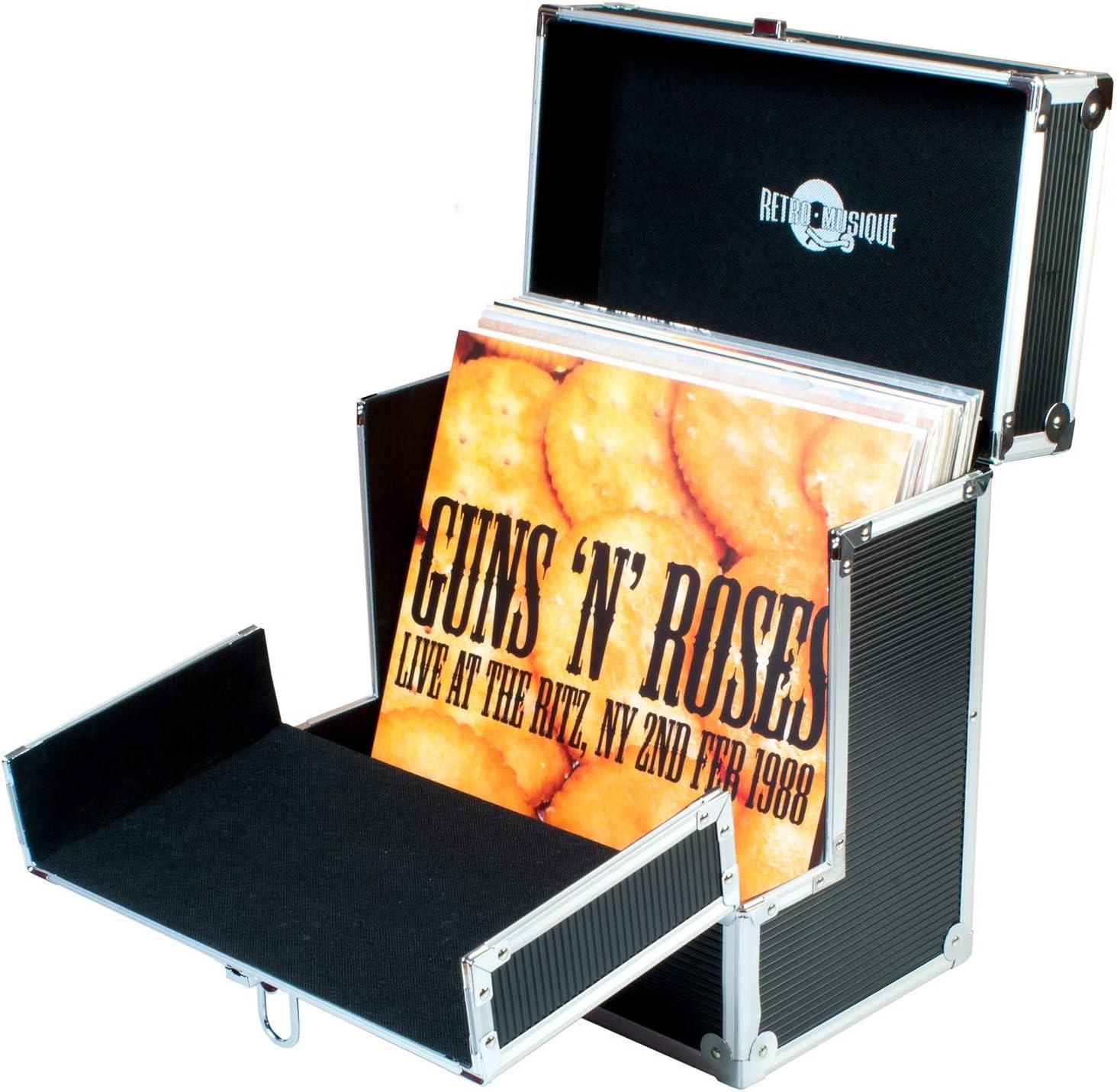 Retro Musique - Caja de almacenamiento para discos de vinilo de 12 ...
