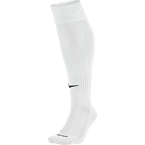 Nike Knee High Classic Football Dri Fit Calcetines, Unisex adulto, Blanco / Negro (