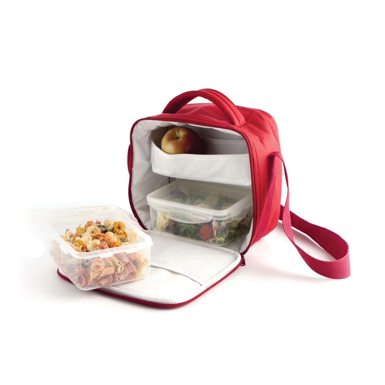 Quid Portamenú Golunch Rombo Envases para Alimentos-Bolsas para Llevar Comida y sándwiches, Tela, Multicolor, 34 x 14 x 20 cm