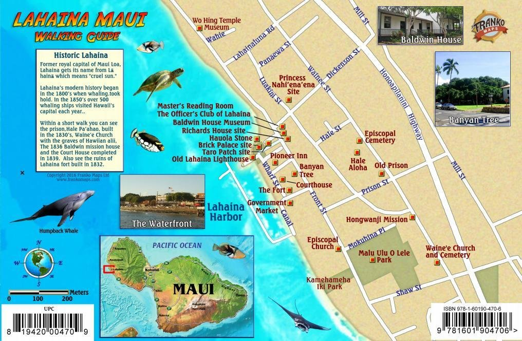 Hawaii Map Maui.Lahaina Historic Walking Tour West Maui Map Hawaii Franko Maps