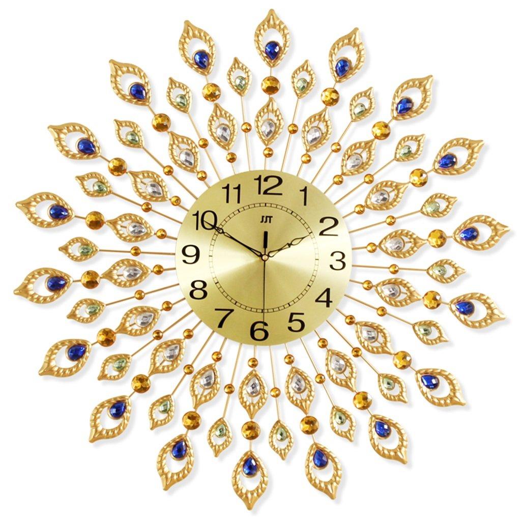 壁時計 装飾的な壁の時計リビングルームの時計ヨーロッパの創造的な人格の芸術大きいクォーツ腕時計近代的なミニマートミュート吊りテーブル (色 : #1) B07FG1S421#1