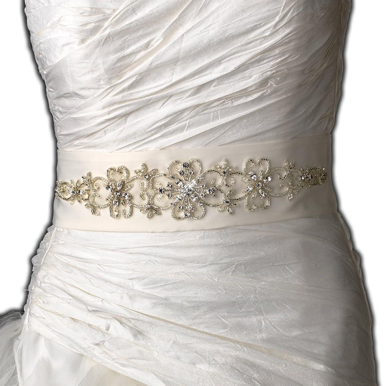 Handmade crystal bridal belt rhinestone pearl luxury wedding dress - Women S Beautiful Beaded Wedding Sash Bridal Belt Ivory At Amazon Women S Clothing Store Wedding Ceremony Accessories