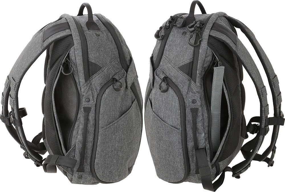 Maxpedition Gear Entity 23 CCW-Enabled Laptop Backpack 23L for Covert Concealed Carry, Charcoal by Maxpedition (Image #5)