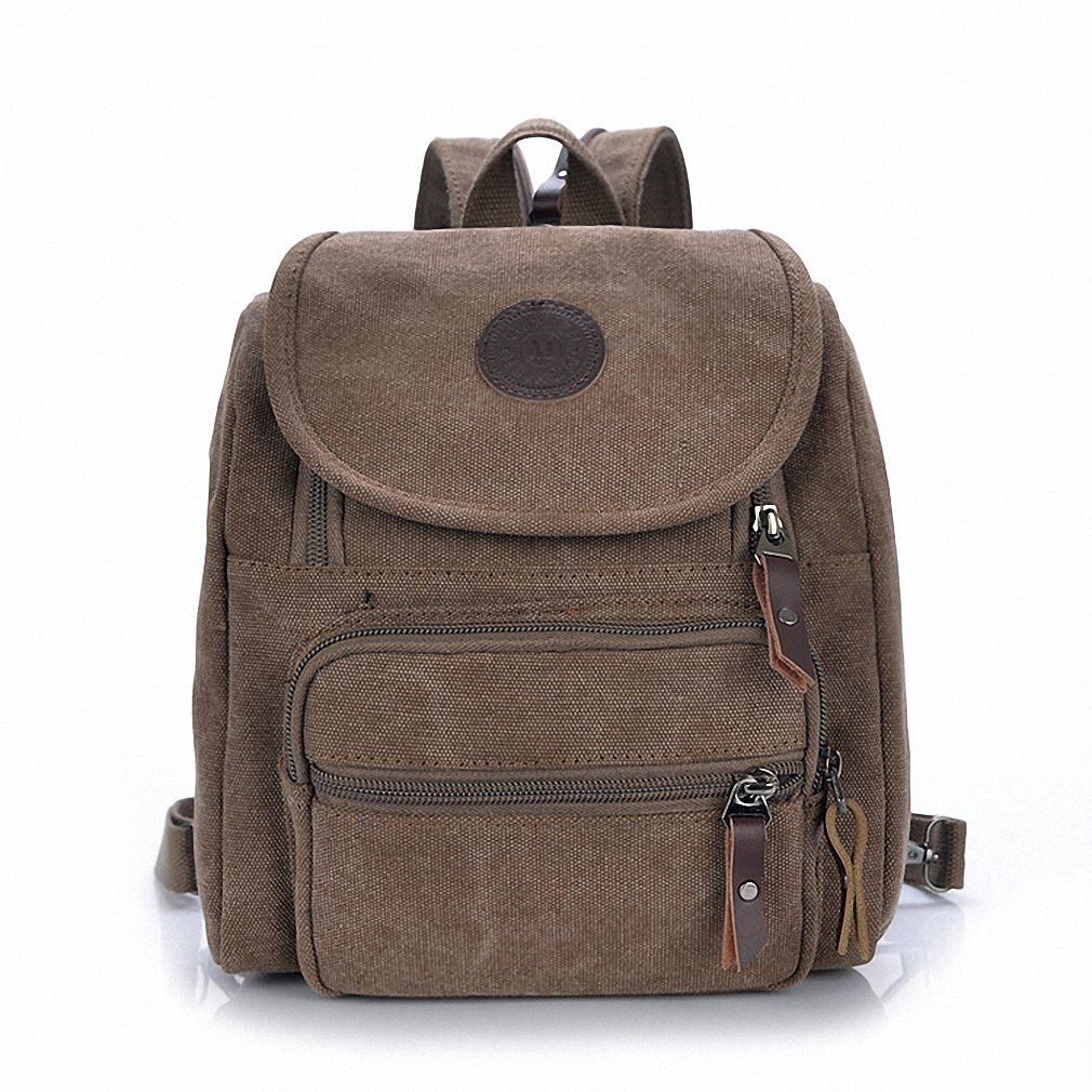 JPNmall 小さなショルダーバッグキャンバス学生のバックパックのハンドバッグ  コーヒー B00S961Q9Q