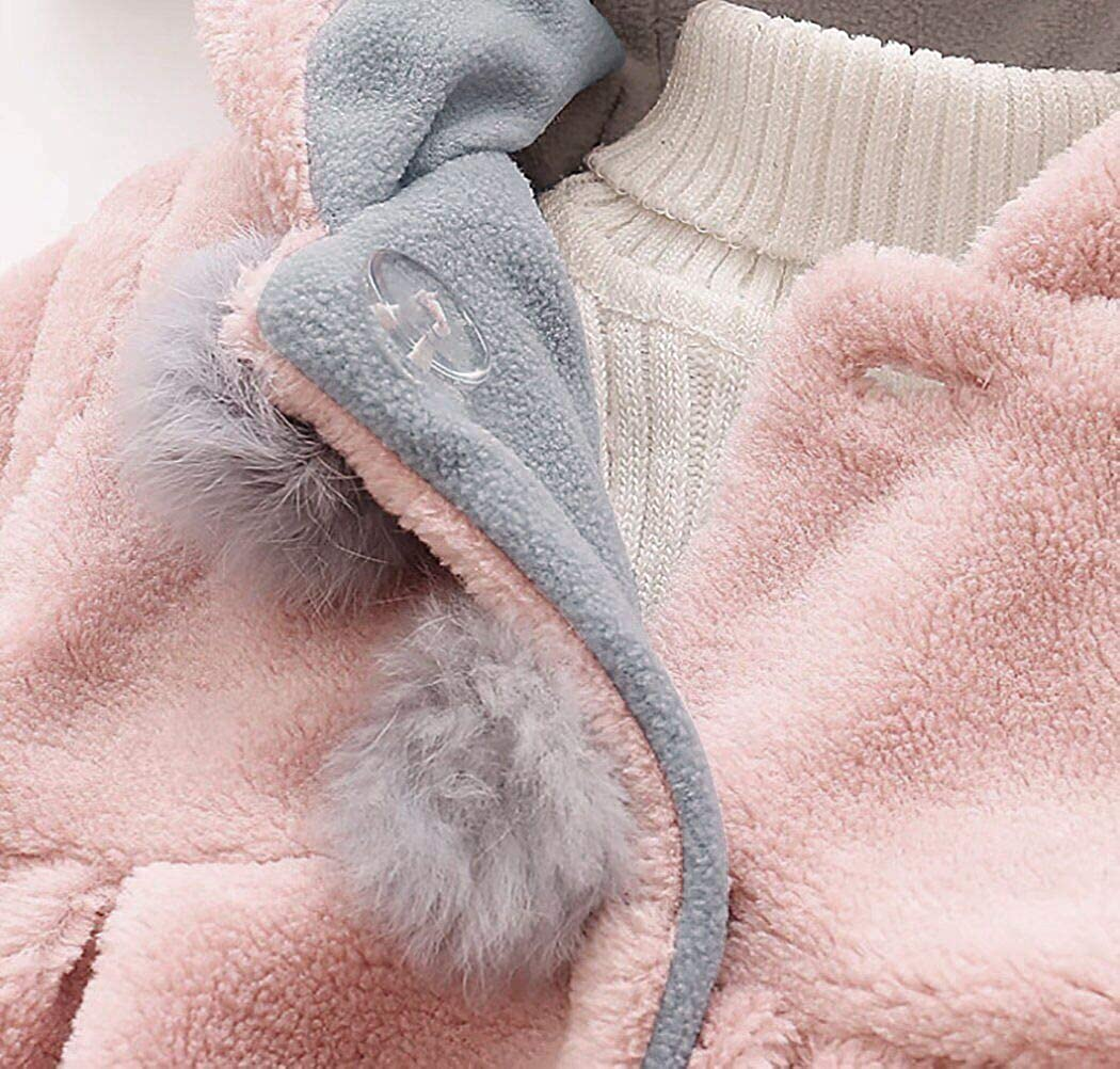 SUPEYA Toddler Baby Girls Fur Warm Coat Long Sleeve Cloak Overcoat Hoodies Outwear