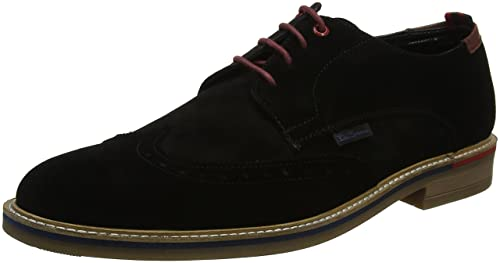 Ben Sherman Luck, Zapatos de Cordones Brogue para Hombre, Beige (Sand Suede 015), 43 EU