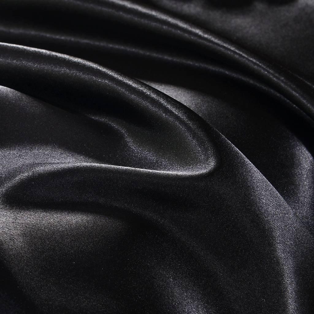 DreamX Luxury Silk Satin Pillowcase Hair Skin 2 Pack- Queen Size(20x30)- Black