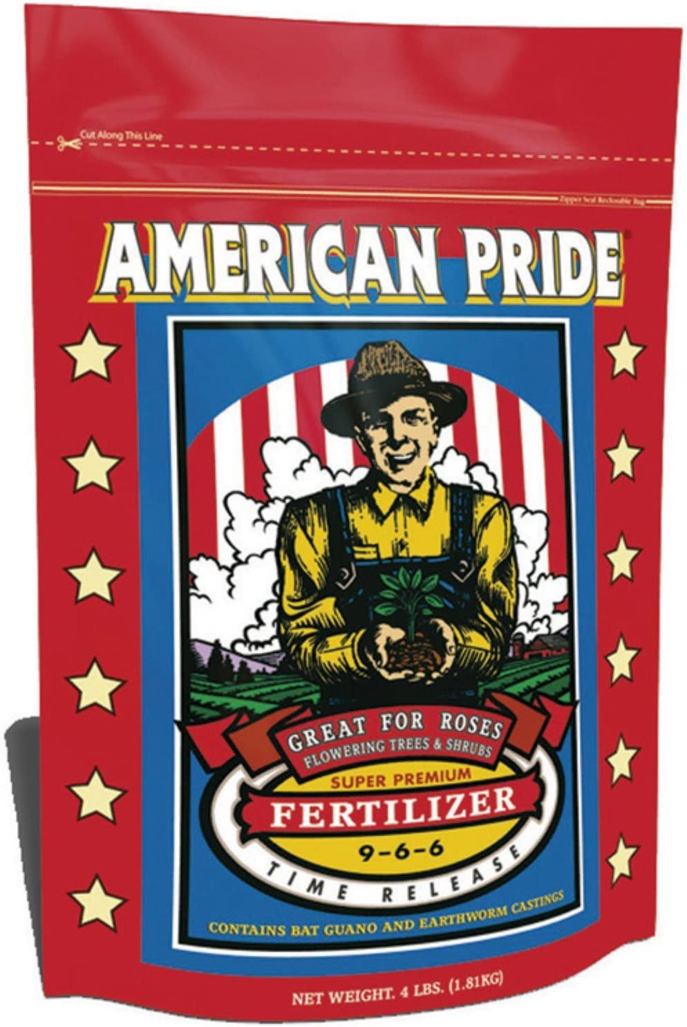 FoxFarm FX14014 4-Pound FoxFarm American Pride Dry Fertilizer 9-6-6