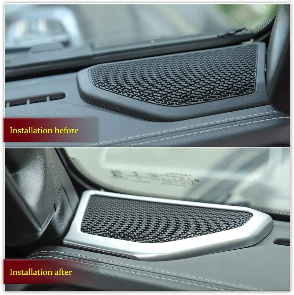 RT-TCZ Jeep Wrangler JL Carbon Fiber ABS A pillar Speaker Decoration Cover Trim Stickers Car Interior Accessories for 2018-2019 Jeep Wrangler JL//JLU
