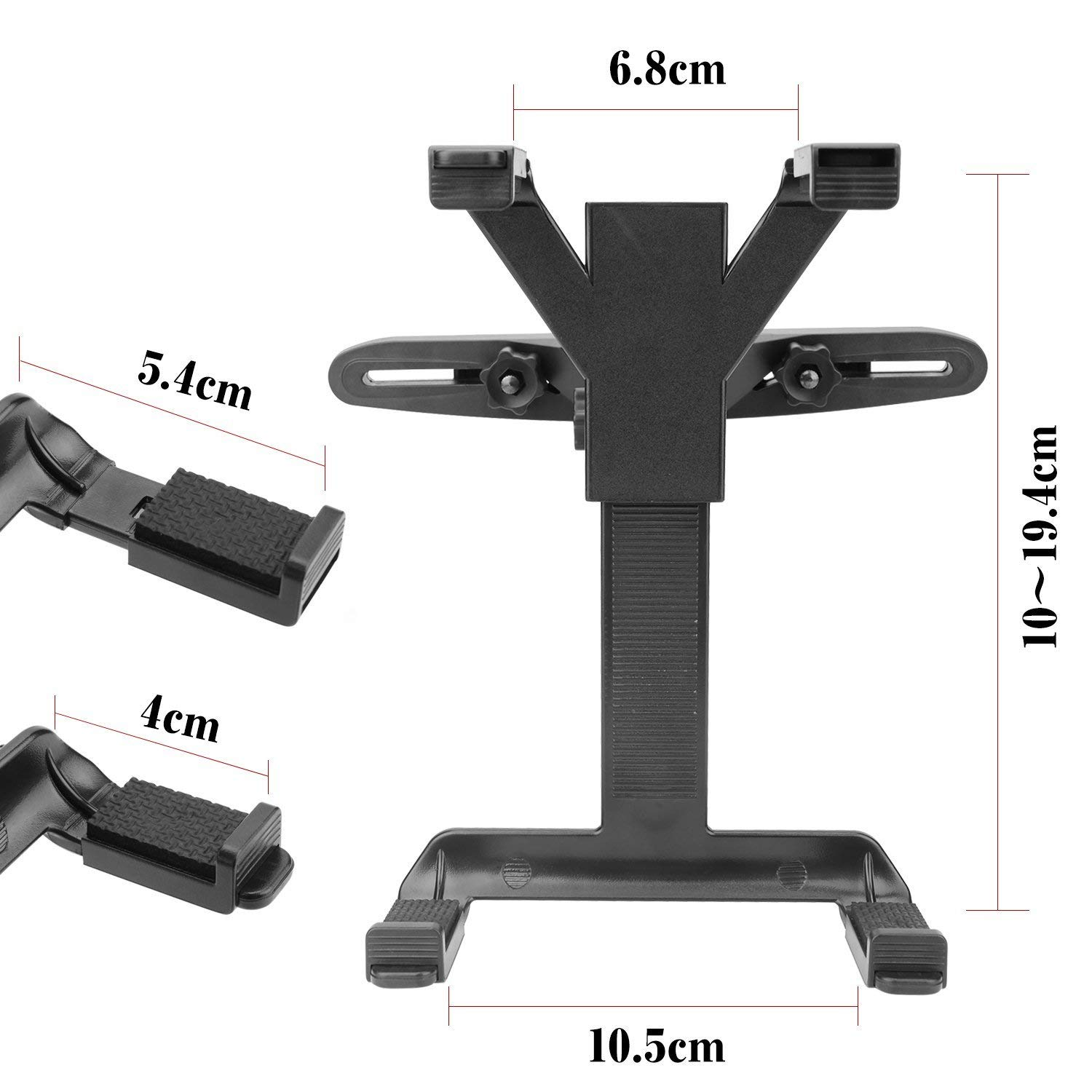 Car Headrest Mount, bedee Tablet Mount Adjustable Car Backseat Headrest Mount with 360 Degree Rotation, Universal for Portable DVD Player, Apple iPad Mini / iPad Air 2 / iPad Air / iPad 4 / iPad 3 / iPad 2 iPad Pro, Samsung Galaxy Tab, Kind