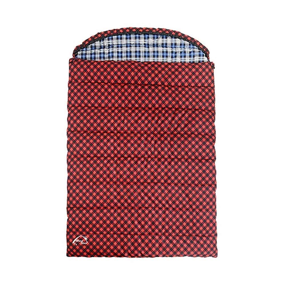AOSLEEP Couple Double Sac De Couchage Camping Léger Compact Chaud Confortable Tapis De Sol Intérieur Convient pour Adulte Randonnée Sac à Dos Alpinisme Activité De Plein Air Rouge (Taille   3.8KG)  3.8KG