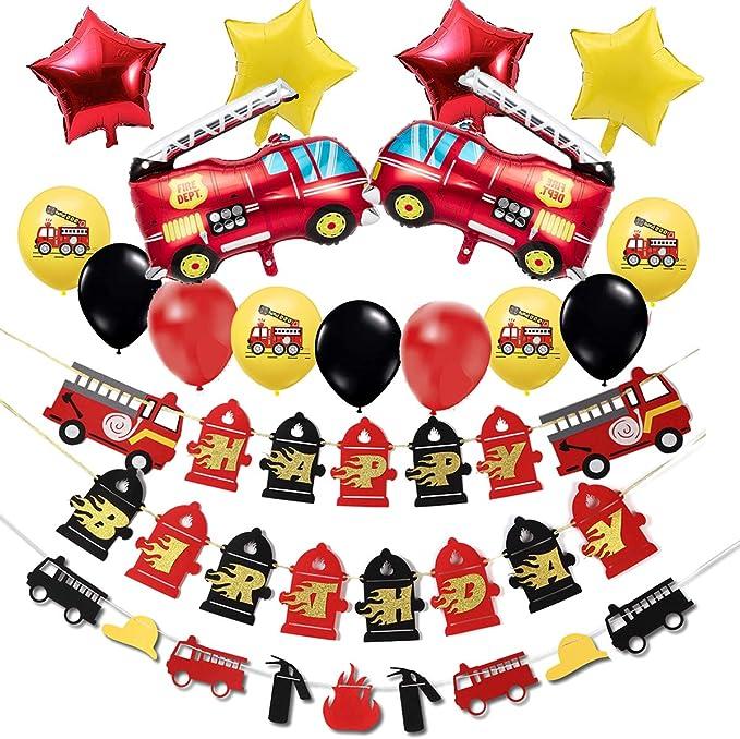 fireman Sam Party Dekoration Banner Gedeck Tüten Ballon Servietten Laterne