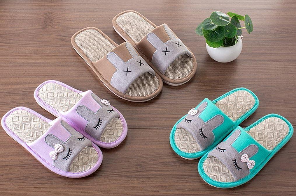 Cattior Mens Bunny House Bedroom Slippers Open Toe Slippers