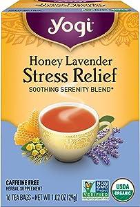 Yogi Tea - Honey Lavender Stress Relief (6 Pack) - Soothing Serenity Blend - 96 Tea Bags