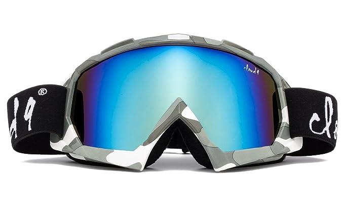 Cloud 9 Snow Goggles in Gray/White/Yellow Mens Ski Goggles Camouflage Green Camo Kid Goggles Men